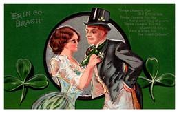 St Patricks Erin  Go Bragh, Wife Tying Husband Tie, Poem - Saint-Patrick's Day