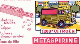 Buvard - Pharmacie - METASPIRINE - 1200K Citroen - Aspirine Composée Tonique - Unclassified