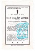 DP Maria Begga Van Goethem ° Melsele Beveren-Waas † 1798 Zele 1874 X Everardus De Geest - Devotion Images