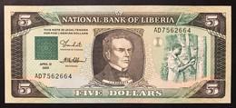 Liberia 5 Dollars 1989 PICK # 19 UNC Fds  LOTTO 3416 - Liberia