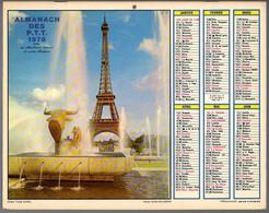 CALENDRIER GF 1978 - Paris Tour Eiffel 75, Maison Fleurie Dans Le Nord, Imprimeur Oberthur Rennes (calendrier Double) - Big : 1971-80