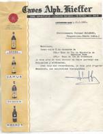 Facture 1961 / LUXEMBOURG-GARE / Caves A KIEFFER / Apéritif HERBA, CAMUS, BERGER, RIBEIRO'S - Luxemburg