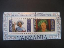 Tansania 2011- Block Zum 85. Geburtstag Von Queen Elisabeth' S Mutter, Block Total Verzähnt - Tanzanie (1964-...)