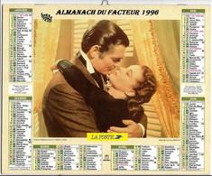 CALENDRIER GF 1996 - Film C. Gable/V. Leigh, Cléopâtre Taylor/Burton, Imprimeur Oberthur Rennes (calendrier Double) - Big : 1991-00