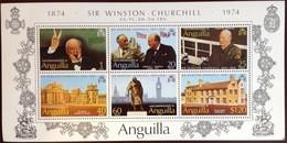 Anguilla 1974 Churchill Minisheet MNH - Anguilla (1968-...)