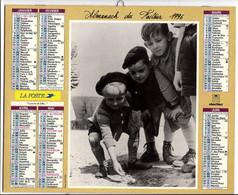 CALENDRIER GF 1996 - Jeux De Billes, La Classe Des Filles, Imprimeur Oberthur Rennes (calendrier Double) - Big : 1991-00