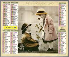 CALENDRIER GF 1997 - Enfant Et Romantisme, Imprimeur Oberthur Rennes (calendrier Double) - Big : 1991-00