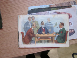 Playing Cards Old Postcards Humor - Playing Cards