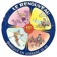ETIQU. 55- AU  LE RENOUVEAU Meuse - Kaas
