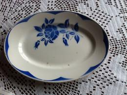Sarreguemines Digoin Ancien Grand Plat Ovale - Décor Corsica Vintage France - Dishes