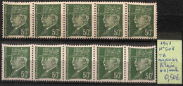 NB - [825914]TB//**/Mnh-France 1941 - N° 508, Pétain, Tb Nuances, SNC - 1941-42 Pétain