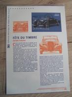 Document Philatélique 2019 : Fete Du Timbre : Citroen Traction - Documentos Del Correo