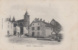 CPA - CHOYE (HAUTE-SAÔNE) - L'EGLISE ET LA PLACE - Other Municipalities