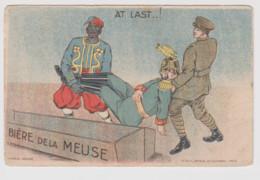 - CPA Humoristique – 1914-1918 – Bière De La Meuse Et Turco – Au Verso Deux Cachets Militaires Du 50eme Régt Territorial - Umoristiche