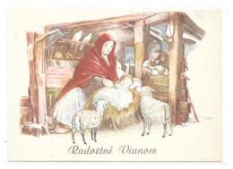ENTIER POSTAL  TCHECOSLOVAQUIE NOËL  MARIE MOUTON CRECHE - Noël