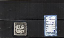 TAXE  Oblitéré - N°2 - 1859-1955 Used