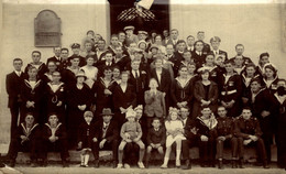 RPPC  CHRISTMAS PARTY AT THE REST MARGHARITA 1925   Photo Postcards Military Navy - Altri