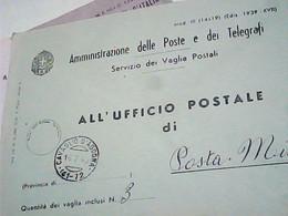 BUSTA Annullo Guller CAVAGLIO D'AGOGNA  NOVARA (VAGLIA), Su R Servizio Riscossioni, In FRANCHIGIA  1940  IB6784 - Franchigia