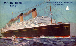 White Star Line Twin Screw RMS HOMERIC  Ship Navy Navire Boat - Paquebote