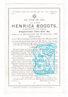 DP Henrica Boodts ° Rupelmonde Kruibeke 1812 † Steendorp Temse 1877 X Augustinus Van Der Aa - Devotion Images