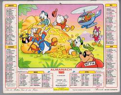 CALENDRIER GF 1989 - La Bande à Picsou Et Bambi, Imprimeur Jean Lavigne (calendrier Double) - Tamaño Grande : 1981-90