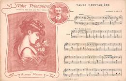 Musique - Partition - VALSE PRINTANIERE - Valse Pour Piano Par Alfred Margis, Pianiste Né à Colombes - Femme, Pin-up - Music And Musicians