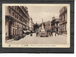 Afrique-Algerie-BONE -( Annada)-Une Vue Animée De La POSTE Plaçe Du Monument Aux Morts -Voiture -1936 - Other Cities