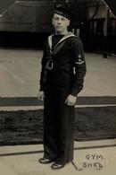 RPPC Gym Shed  Photo Postcards Military Navy  Cartes Postales Photo Marine Militaire - Otros