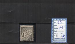 TAXE Oblitéré - N°13 - 1859-1955 Used
