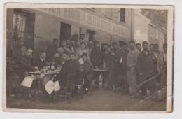 - 59 – DUNKERQUE – AUBERGE SEHEUT - Carte Photo Militaire D'un Groupe De Soldats Devant L'auberge Seheut - 10/12/1914 - Dunkerque
