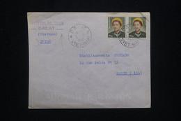 VIETNAM - Enveloppe De L 'Institut Pasteur De Dalat Pour Paris En 1953 - L 94117 - Vietnam
