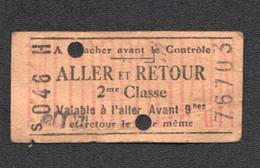 ANCIEN TICKET DE METRO  PARIS      /  METROPOLITAIN  C2190 - Europa