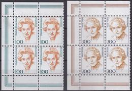 BRD, 1997,  Nr. 1955-1956 ** Frauen Der Deutschen Geschichte (XVII), 2 Viererblöcke Mit Linkem Rand Aus Kleinbogen - Neufs