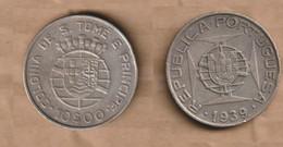 SANTO TOME Y PRICIPE  10 Escudos 1939 Silver (.835) • 12.5 G • ⌀ 30 Mm KM# 7 - Sao Tome And Principe