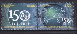 Portugal 2015 150 Anos UIT União Internacional De Comunicações International Telecommunications Connecting Earth - Unused Stamps