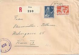 Zensur R Brief  Zug - Wien              1951 - Brieven En Documenten