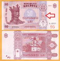 """2020 2015  Moldova ; Moldavie ; Moldau  """"50 LEI  2015"""" """"GUVERNATOR, O. Armașu""""  UNC - Moldova"""