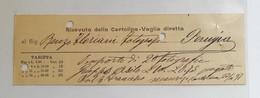 Ricevuta Della Cartolina Vaglia Diretta Gualdo Tadino-Perugia 1897 - Unclassified
