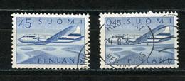 FINLANDE : AVION N° Yvert PA 6+8 Obli. - Used Stamps