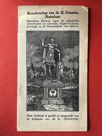 Image Pieuse - Anno 1868 - BROEDERSCHAP VAN DE H. DONATUS MARTELAAR - 's Bosch - Devotion Images