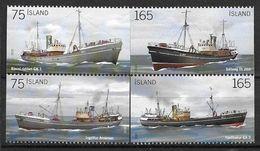 Islande 2010, N°1194/1197 Neufs Bateaux Chalutiers - Ungebraucht