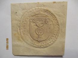 Siegel Ca. 1800, In Hallis Sigillum Universitatis, Kreuz Hand Lilie (5281) - Unclassified