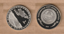 KIRGUISTAN  1 Som (Lake Issykkul) 2009  Copper-nickel • 12 G • ⌀ 30 Mm KM# 33 - Kyrgyzstan