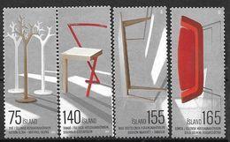 Islande 2010, N°1184/1187 Neufs Design Islandais - Ungebraucht