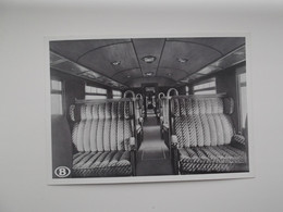 Drieledige Motortrein - Binnenaanzicht Van Een Rijtuig 2e Klasse: TREIN - TRAIN - NMBS - SNCB - Trains