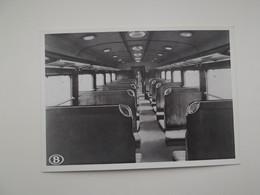 Electrische Trein - Binnenaanzicht Van Een Rijtuig 3e Klasse: TREIN - TRAIN - NMBS - SNCB - Trains