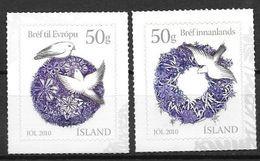 Islande 2010, N°1223/1224 Neufs Noël - Ungebraucht