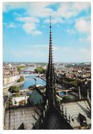 """75 - PARIS - Flèche De Notre Dame Et Panorama De La Seine En Amont - Ed. """"GUY"""" N° 5166 - Notre Dame De Paris"""