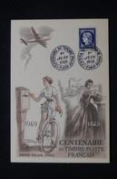 FRANCE - Carte FDC En 1949 - Centenaire Du Timbre Français - L 94143 - ....-1949