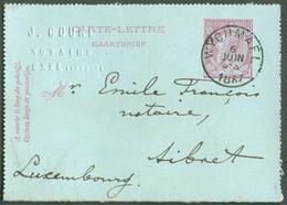 E.P. Carte - Lettre 10 Centimes Datée De EXEL+ Oblit. Sc WYCHMAEL 6 Juin1887 Vers Sibret - TB - 17794 - Postbladen